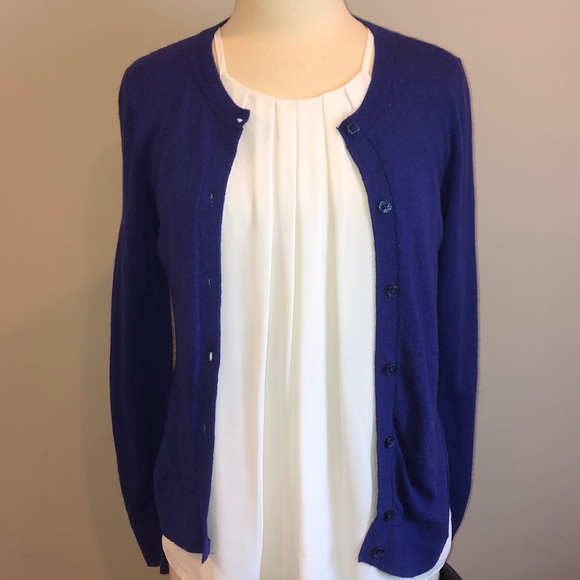 LOFT Sweaters - Royal Purple LOFT Cardigan Sz M